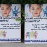 Plakat: Ich will mein Gymnasium in Herrsching